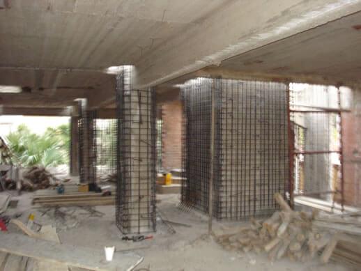 Ενίσχυση Υποστυλωμάτων και Θεμελίων Κτιρίου