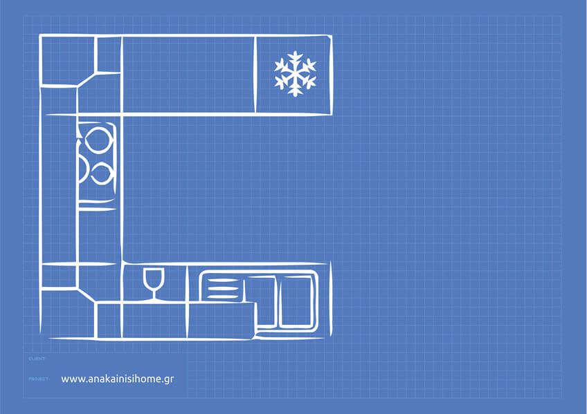 Κουζίνα σπιτιού σε σχήμα πέταλου